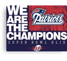 Patriots super bowl champions Canvas Print