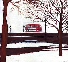London Bus by earthskyart