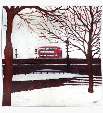 London Bus Poster