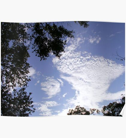 Foamy Clouds Poster