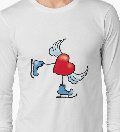 Skating Heart Long Sleeve T-Shirt