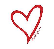 #BeARipple...LOVE Red Heart on White by BeARipple