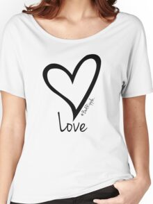 LOVE....#BeARipple Black Heart on White Women's Relaxed Fit T-Shirt