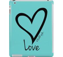 LOVE....#BeARipple Black Heart on Tiffany iPad Case/Skin