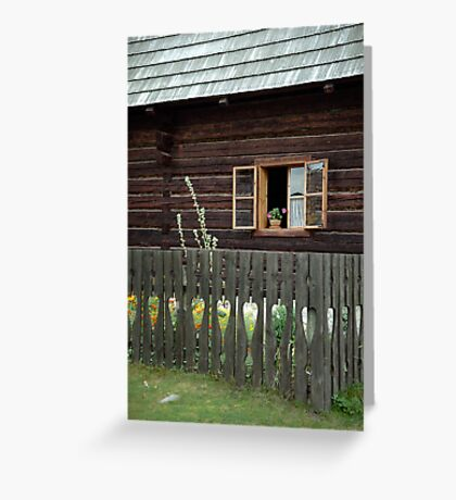 Liptov house, Pribylina, Slovakia Greeting Card