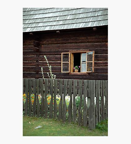 Liptov house, Pribylina, Slovakia Photographic Print