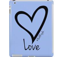 LOVE....#BeARipple Black Heart on Lavender iPad Case/Skin