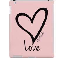 LOVE....#BeARipple Black Heart on Pink iPad Case/Skin
