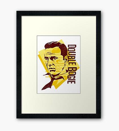 Humphrey Bogart retro graphic Framed Print