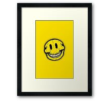 Smiley Skull Framed Print