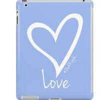 LOVE....#BeARipple White Heart on Lavender iPad Case/Skin