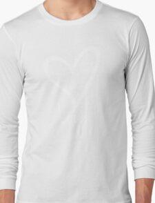 LOVE....#BeARipple White Heart on Pink Long Sleeve T-Shirt