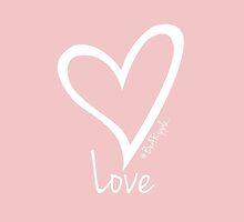 LOVE....#BeARipple White Heart on Pink by BeARipple