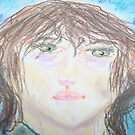My Son Jon's Self Portrait, Age 10 by Debbie Sickler