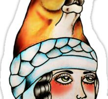 Yaqui Lady Head Sticker