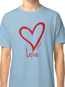 LOVE....#BeARipple Red Heart on Blue Classic T-Shirt