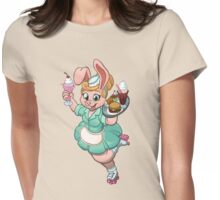 Bunny Waitress Womens Fitted T-Shirt
