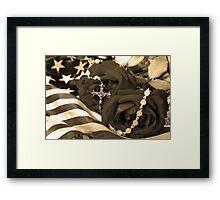 Symbolic Protection Framed Print