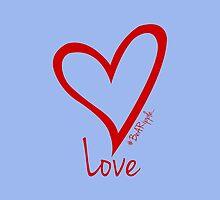 LOVE....#BeARipple Red Heart on Lavender by BeARipple