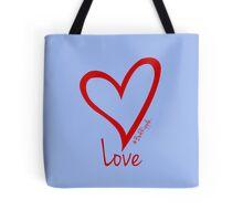 LOVE....#BeARipple Red Heart on Lavender Tote Bag