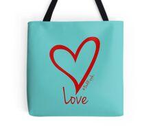 LOVE....#BeARipple Red Heart on Tiffany Tote Bag
