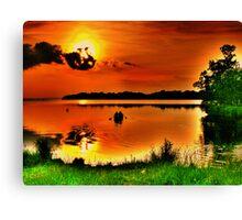 Sunset Paddle Canvas Print