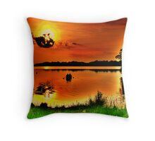 Sunset Paddle Throw Pillow