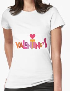 Happy Valentine's Day Womens Fitted T-Shirt