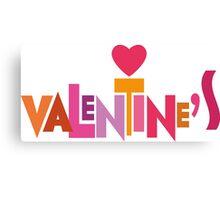 Happy Valentine's Day Canvas Print