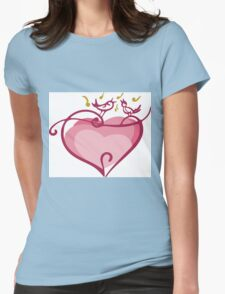 Pink heart Womens Fitted T-Shirt
