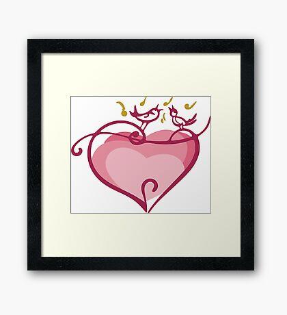 Pink heart Framed Print