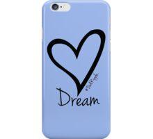 DREAM....#BeARipple Black Heart on Lavender iPhone Case/Skin