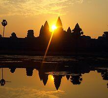 Sunrise over Angkor Wat, Cambodia by Bev Pascoe