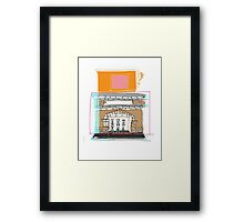 Brandon's Fire Place Framed Print