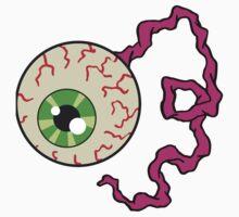 Creepy Bloodshot Eyeball with Optic Nerve Horror Art Kids Clothes