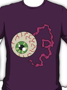 Creepy Bloodshot Eyeball with Optic Nerve Horror Art T-Shirt