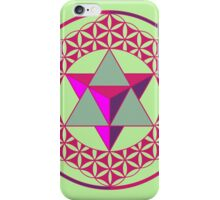 Flower of Life & Star Tetrahedron  iPhone Case/Skin