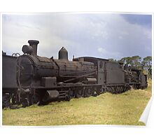Old Steam Locomotive at Dorrigo, NSW, Australia Poster