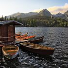 Boathouse at Strbske Pleso by hynek