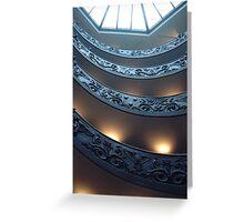 Vatican Escalator Greeting Card