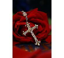 Rosary Rose Photographic Print