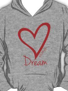 DREAM....#BeARipple Red Heart on Lavender T-Shirt