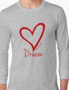 DREAM....#BeARipple Red Heart on Lavender Long Sleeve T-Shirt