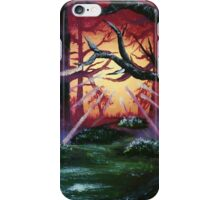 Sunrise Through The Trees - Acrylic Art By DCP iPhone Case/Skin