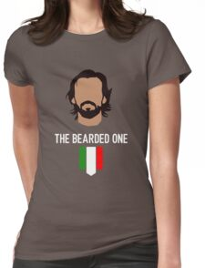 The bearded one - pirlo Womens Fitted T-Shirt