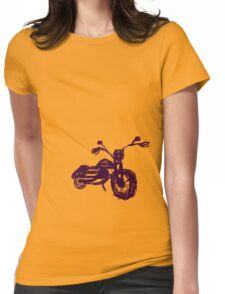 Retro Harley Womens Fitted T-Shirt