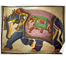 Udaipur Elephant of India Poster