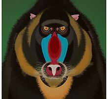 Monkey Mandrill Illustration by FUNCTIONALFOX