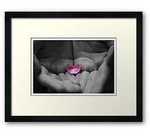 You Hold My Heart Framed Print