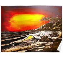 Wave Of The Sun - Acrylic Art By DCP Poster